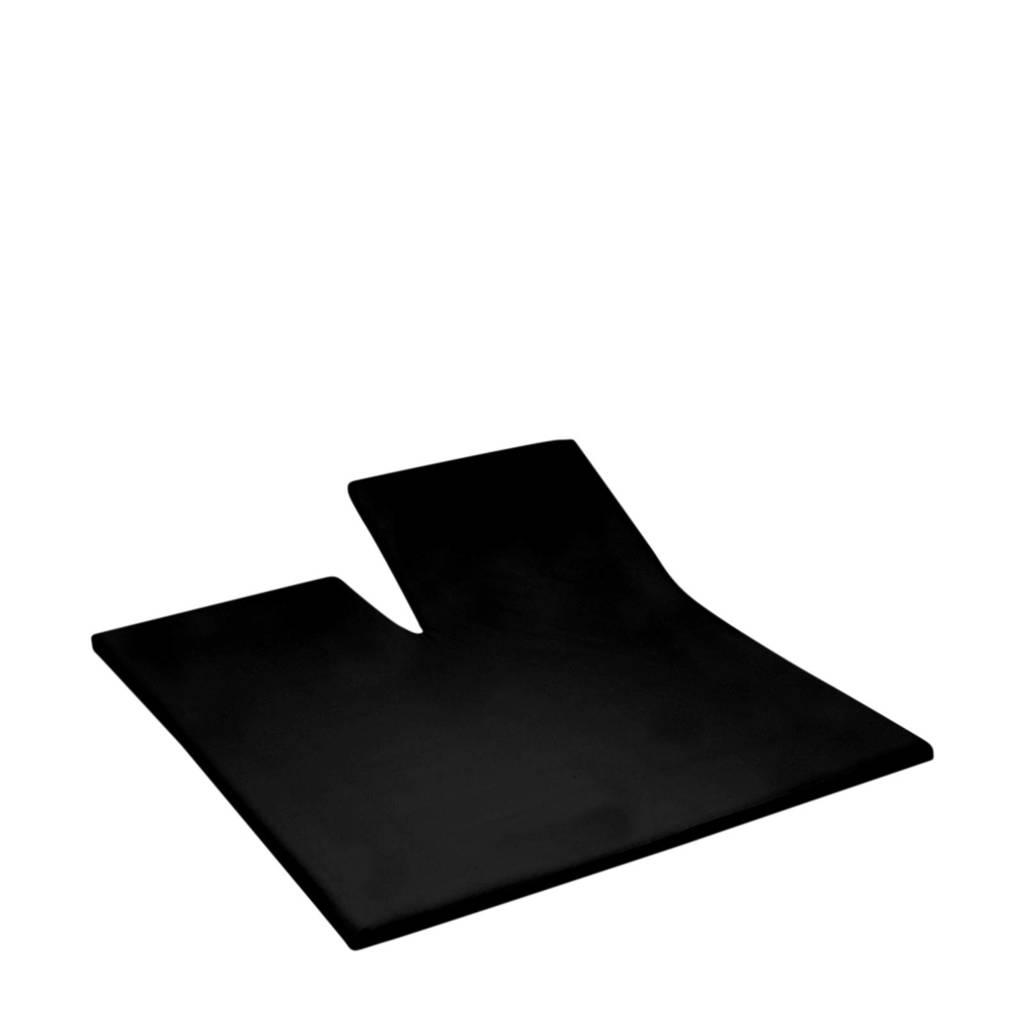 Damai jersey splithoeslaken zwart Zwart