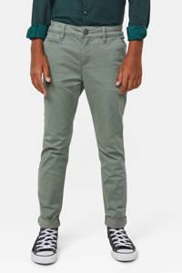 WE Fashion Blue Ridge skinny broek Vassil Chino groengrijs, Groengrijs