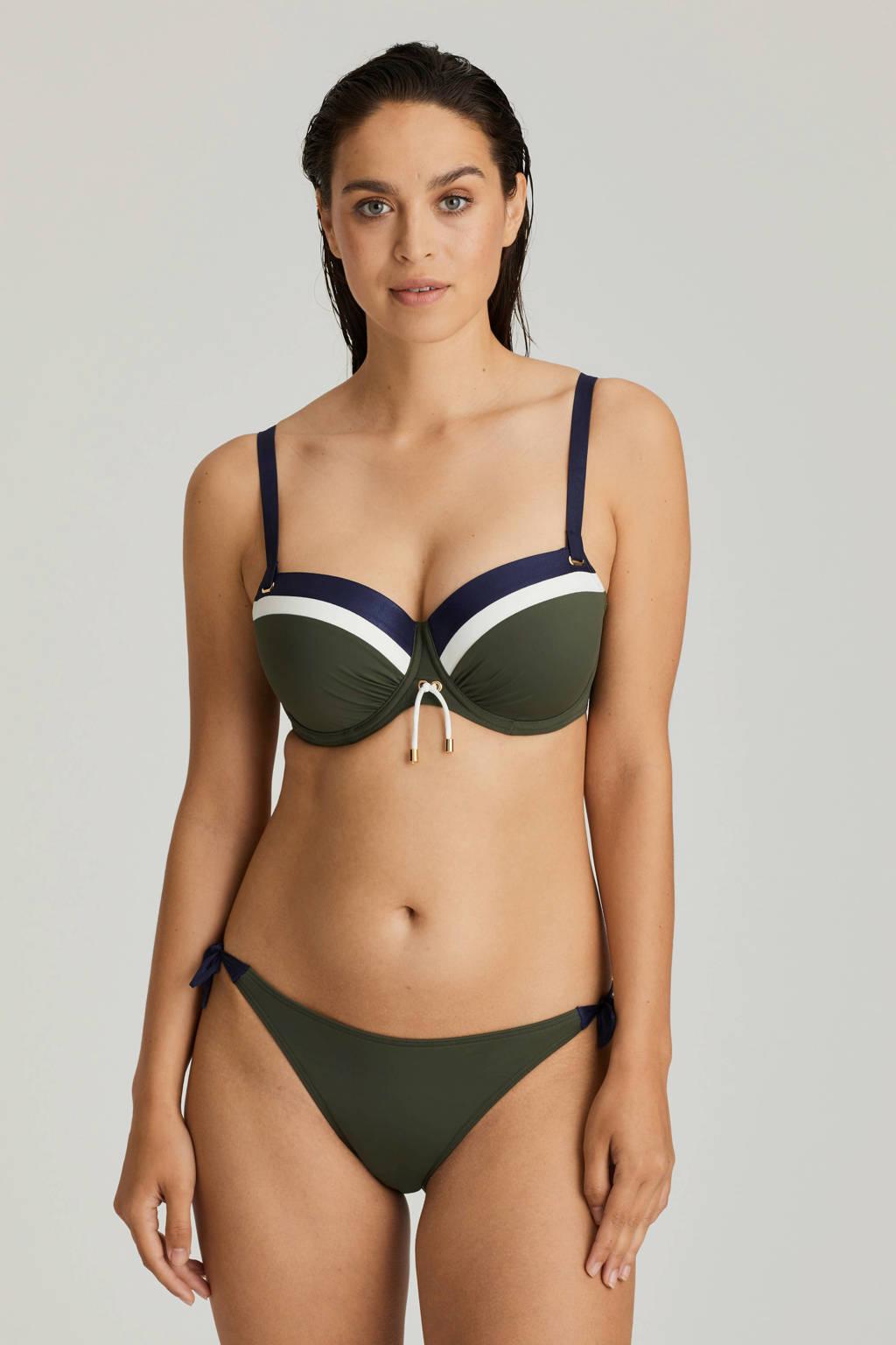 PrimaDonna balconet beugel bikinitop Ocean Drive groen, Blauw / kaki / wit