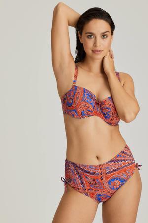 high waist bikinibroekje Casablanca oranje/blauw