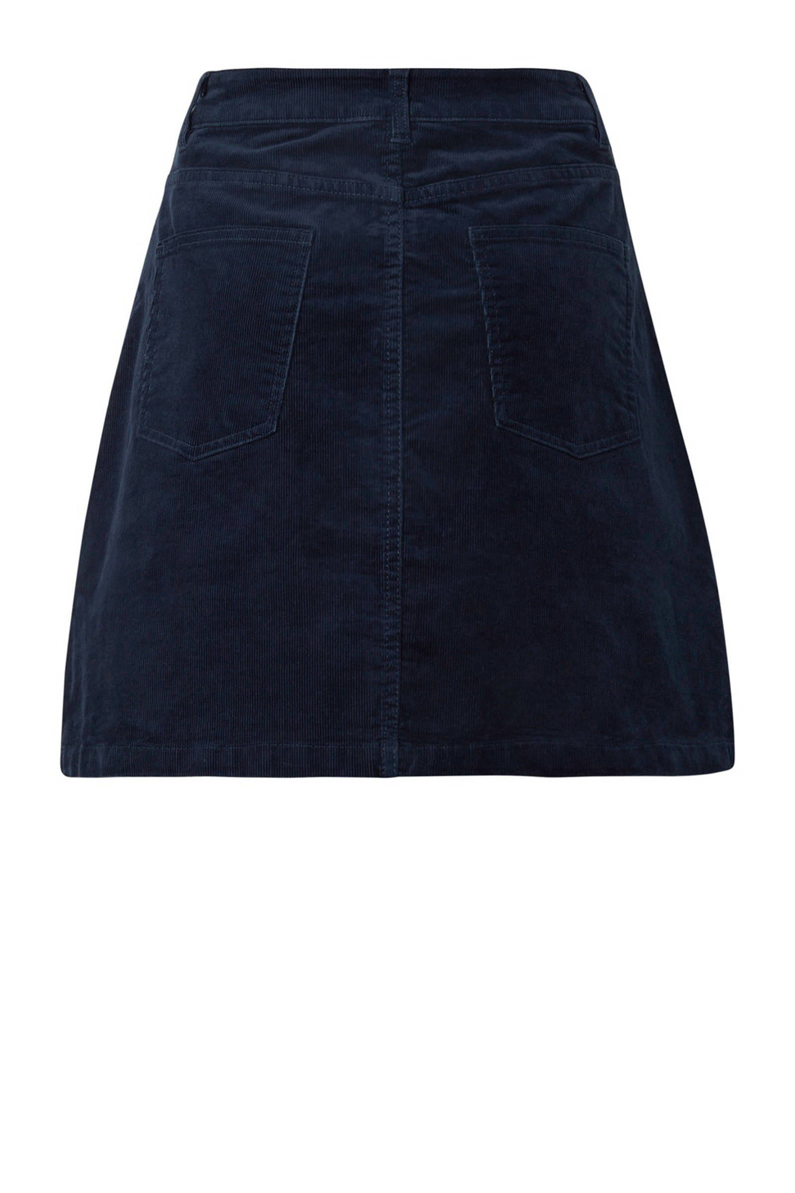Tom Tailor Denim corduroy rok donkerblauw