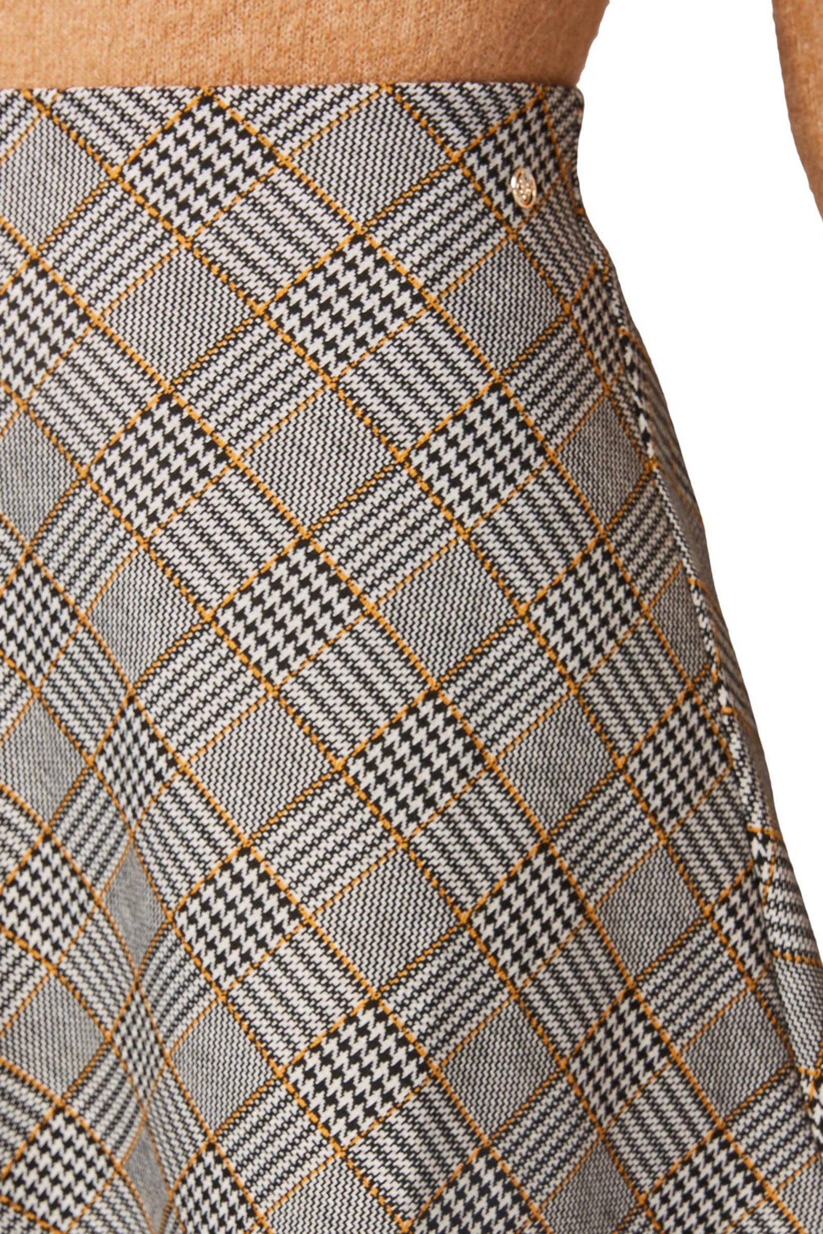 Tom Tailor Denim rok met pied-de-poule zwart/wit
