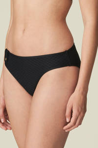 Marie Jo bikinibroekje Brigitte met textuur zwart, Zwart