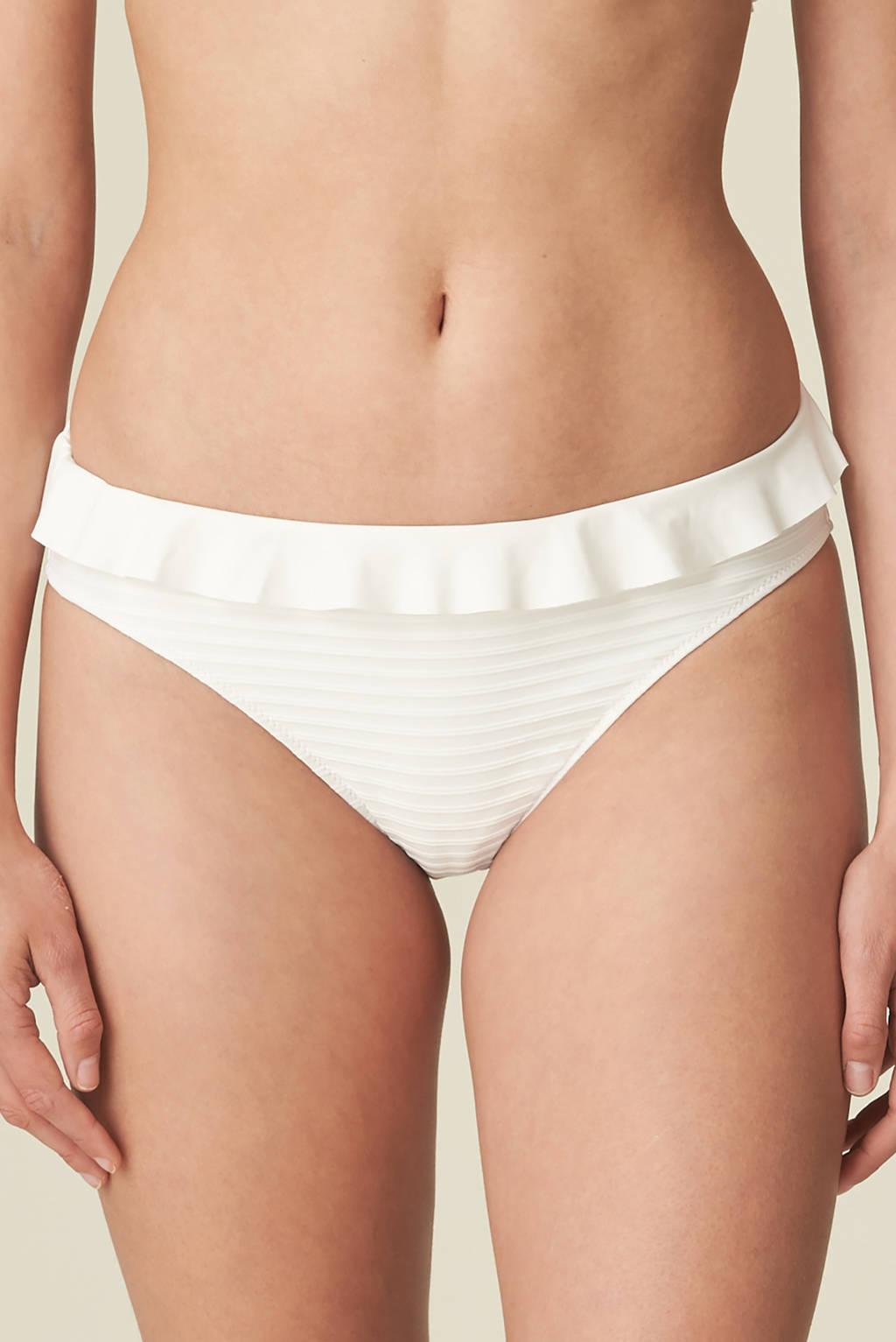 Marie Jo bikinibroekje Celine met ruches wit, Wit