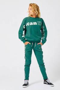 America Today Junior sweater met tekst groen Sep, Groen