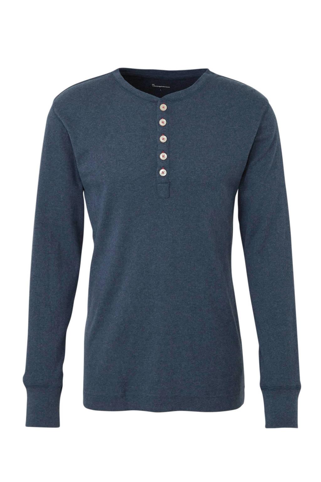 Knowledge Cotton Apparel T-shirt van biologisch katoen groen, Blauw