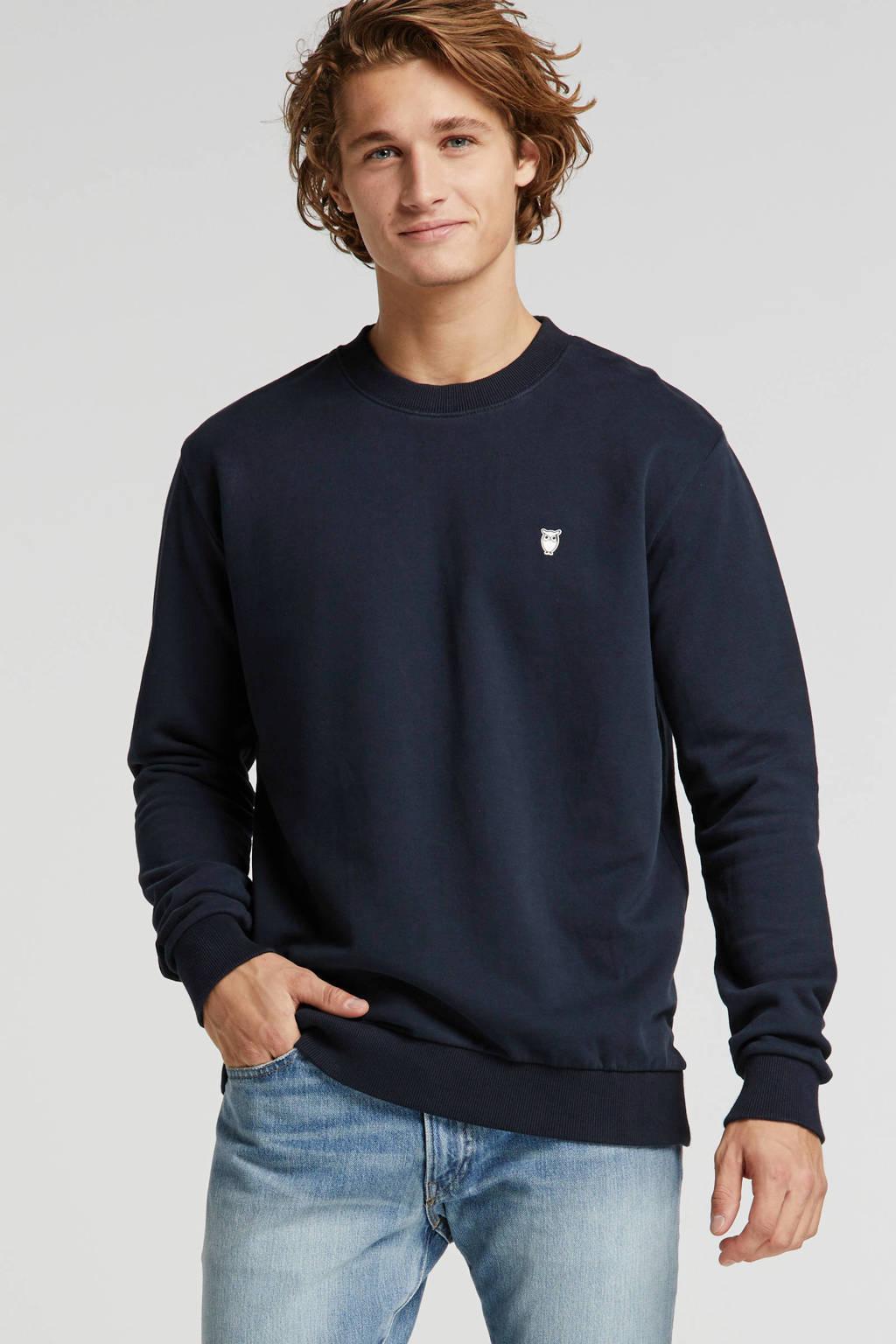 Knowledge Cotton Apparel sweater donkerblauw, Donkerblauw