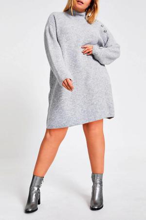 Plus jurk grijs