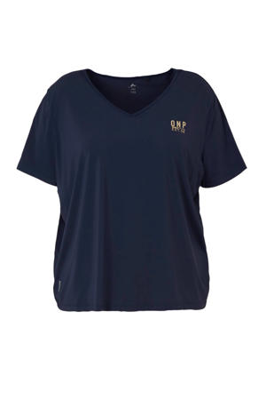 Only Play Curvy sport T-shirt donkerblauw