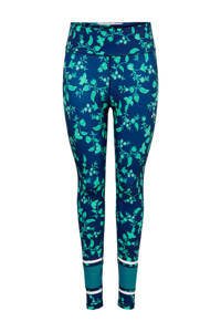 ONLY PLAY sportbroek bloemenprint, Donkerblauw/groen