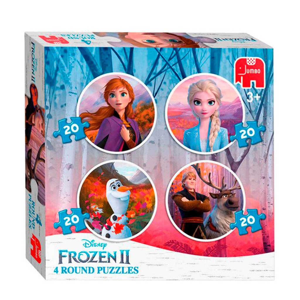 Disney Frozen 2 rond 4-in-1  legpuzzel 80 stukjes