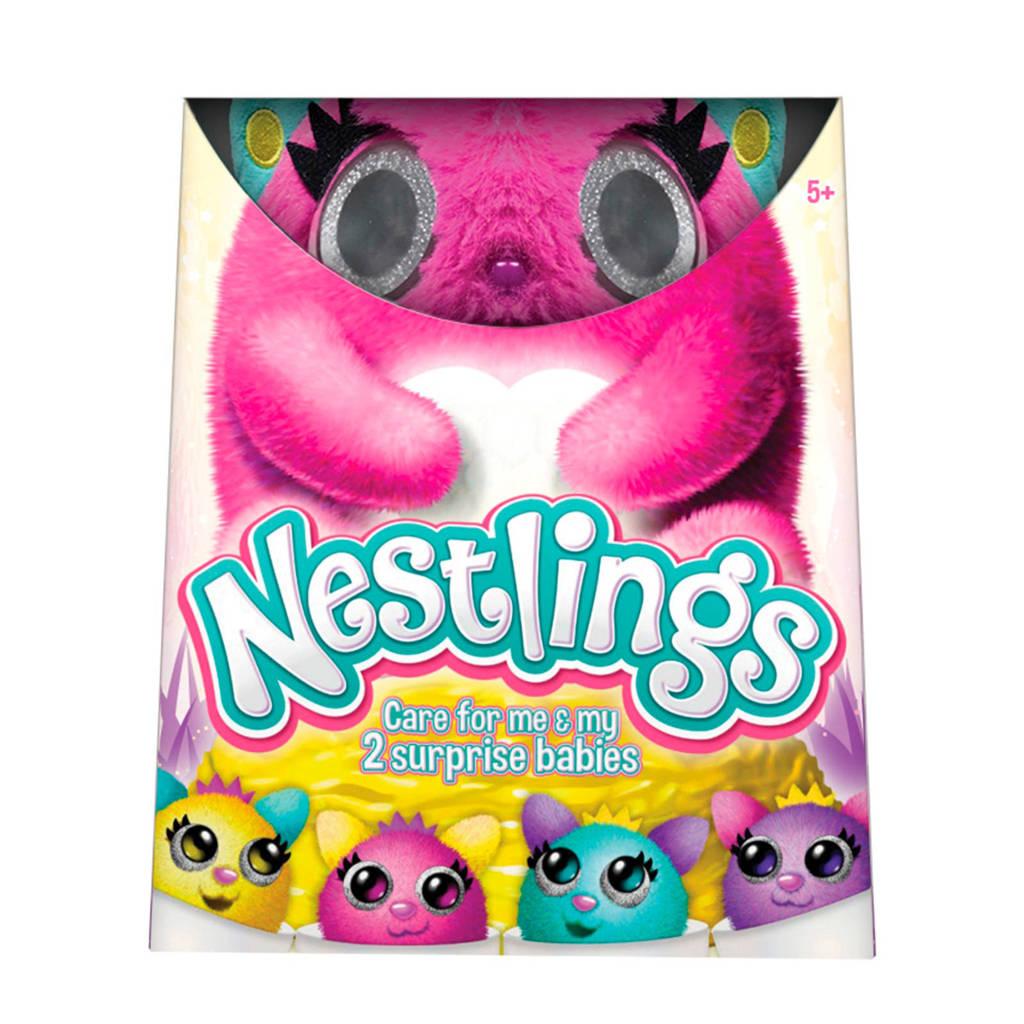 Goliath Nestlings roze interactieve knuffel, Roze
