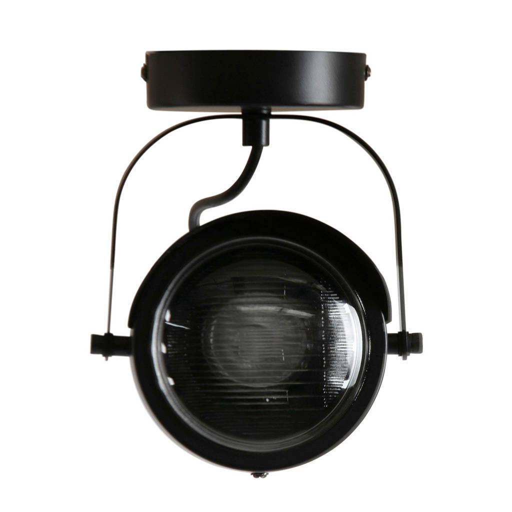 Woood plafondlamp Lester, Zwart