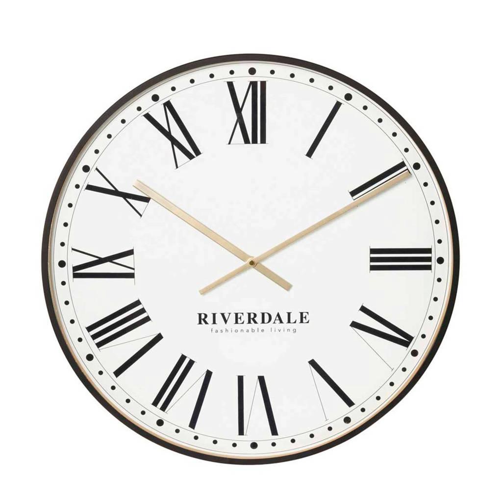 Riverdale wandklok Camden (Ø53 cm), Zwart
