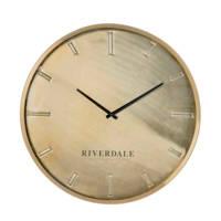 Riverdale wandklok Chuck (Ø50 cm), Brons
