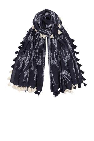 sjaal met all over print marine