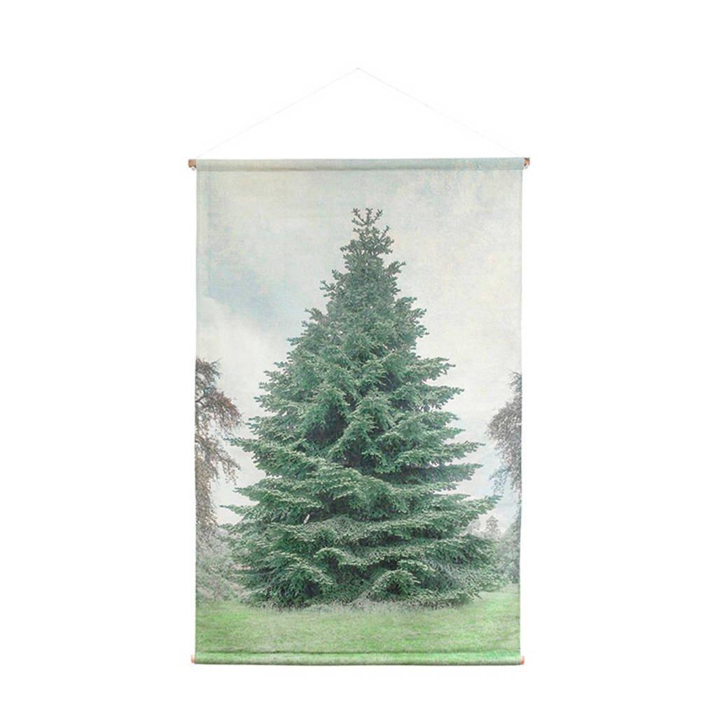 HKliving canvas wandkaart kerstboom (120x80 cm)