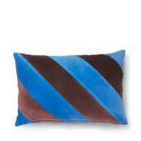 HKliving sierkussen (40x60 cm), Blauw/paars