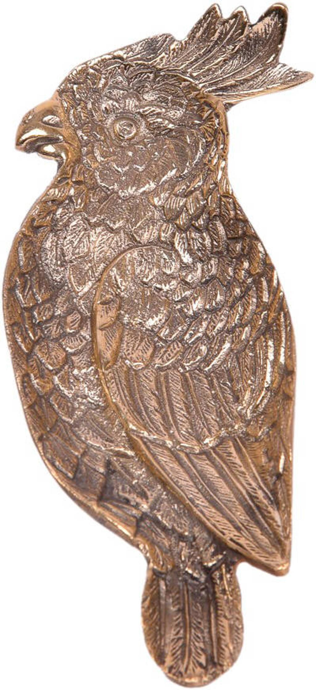 À la decoratie schaaltje Paradise bird (18x7 cm), Goud