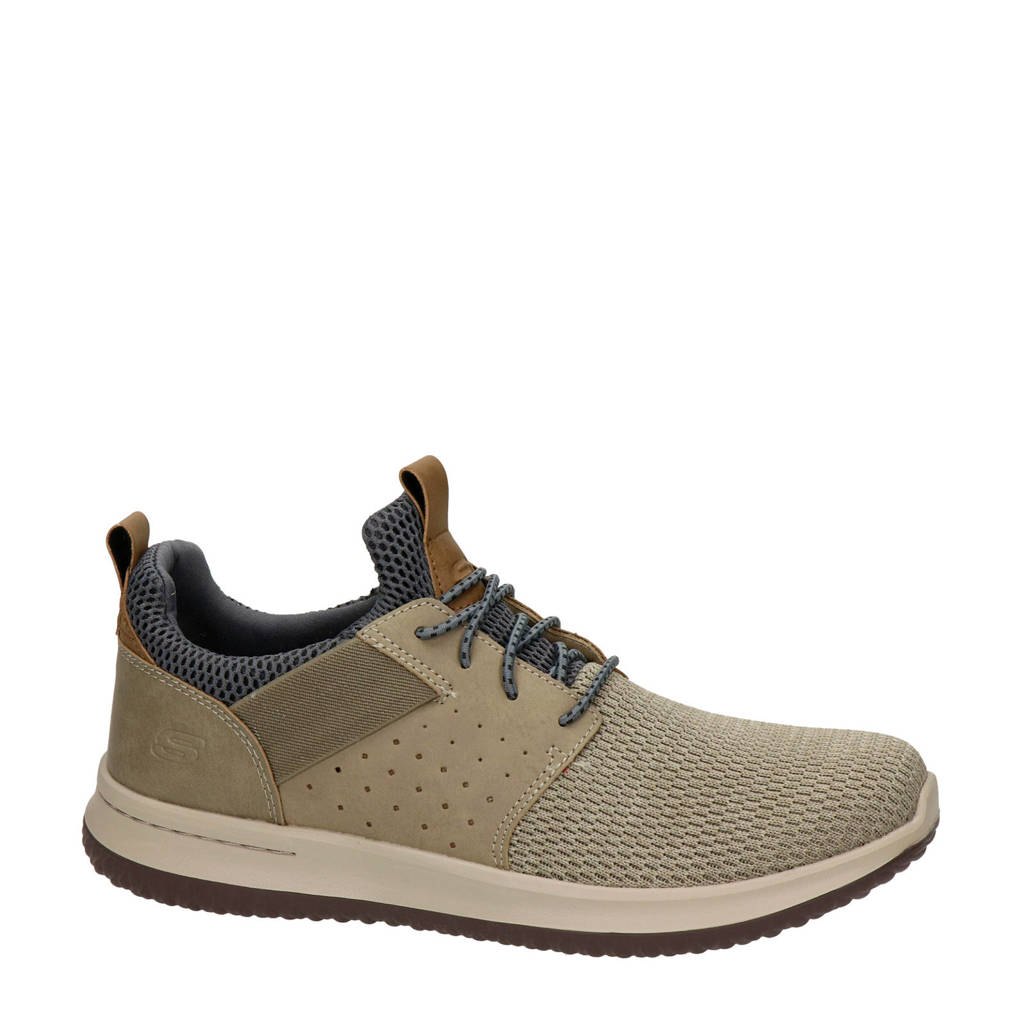 Skechers Delson  sneakers taupe, Taupe