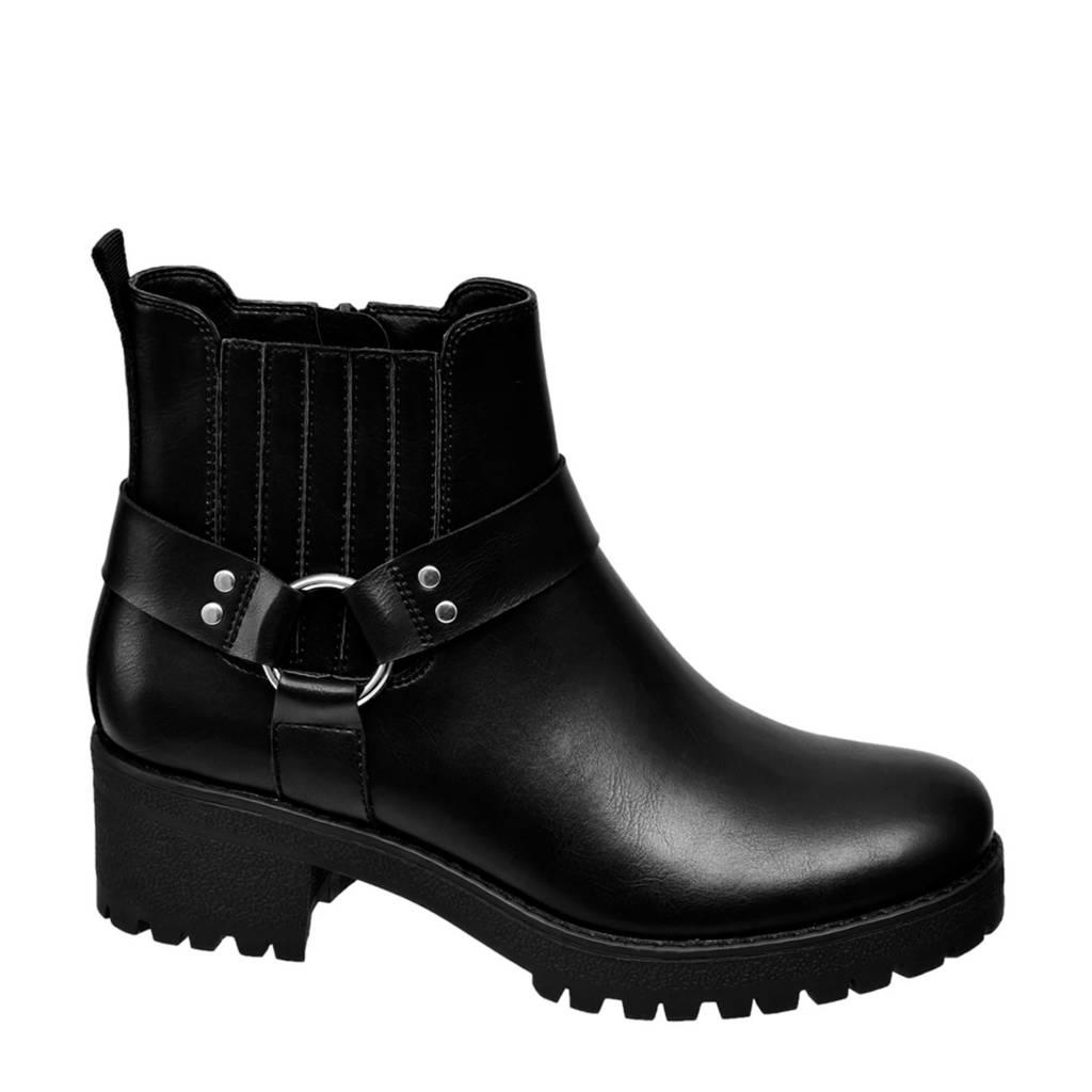 Graceland   enkelboots zwart, Zwart