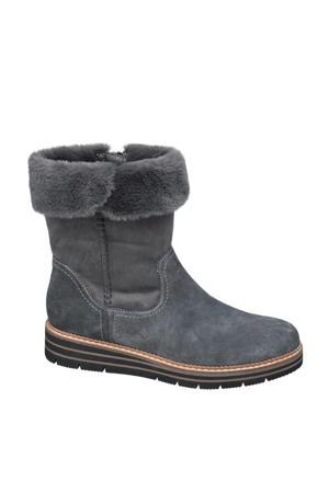 comfort suède laarzen grijs