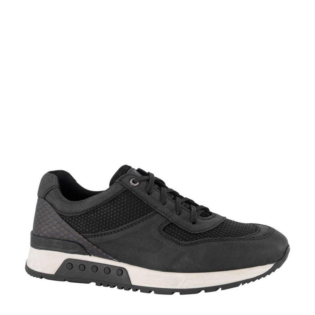 AM SHOE   leren sneakers zwart, Zwart