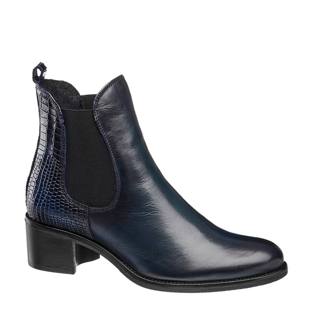 5th Avenue   leren chelsea boots donkerblauw, Donkerblauw