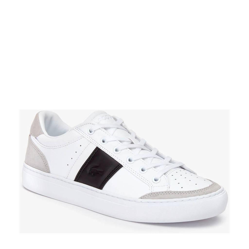 Lacoste  Courtline 319 sneakers wit/zwart, Wit/zwart