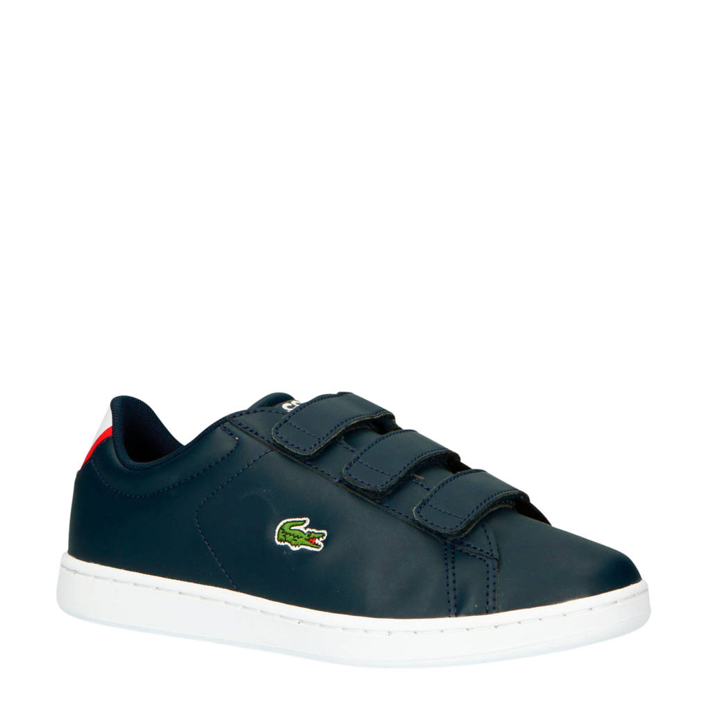Lacoste  Carnaby Evo 319 sneakers donkerblauw/rood, Donkerblauw/rood/wit