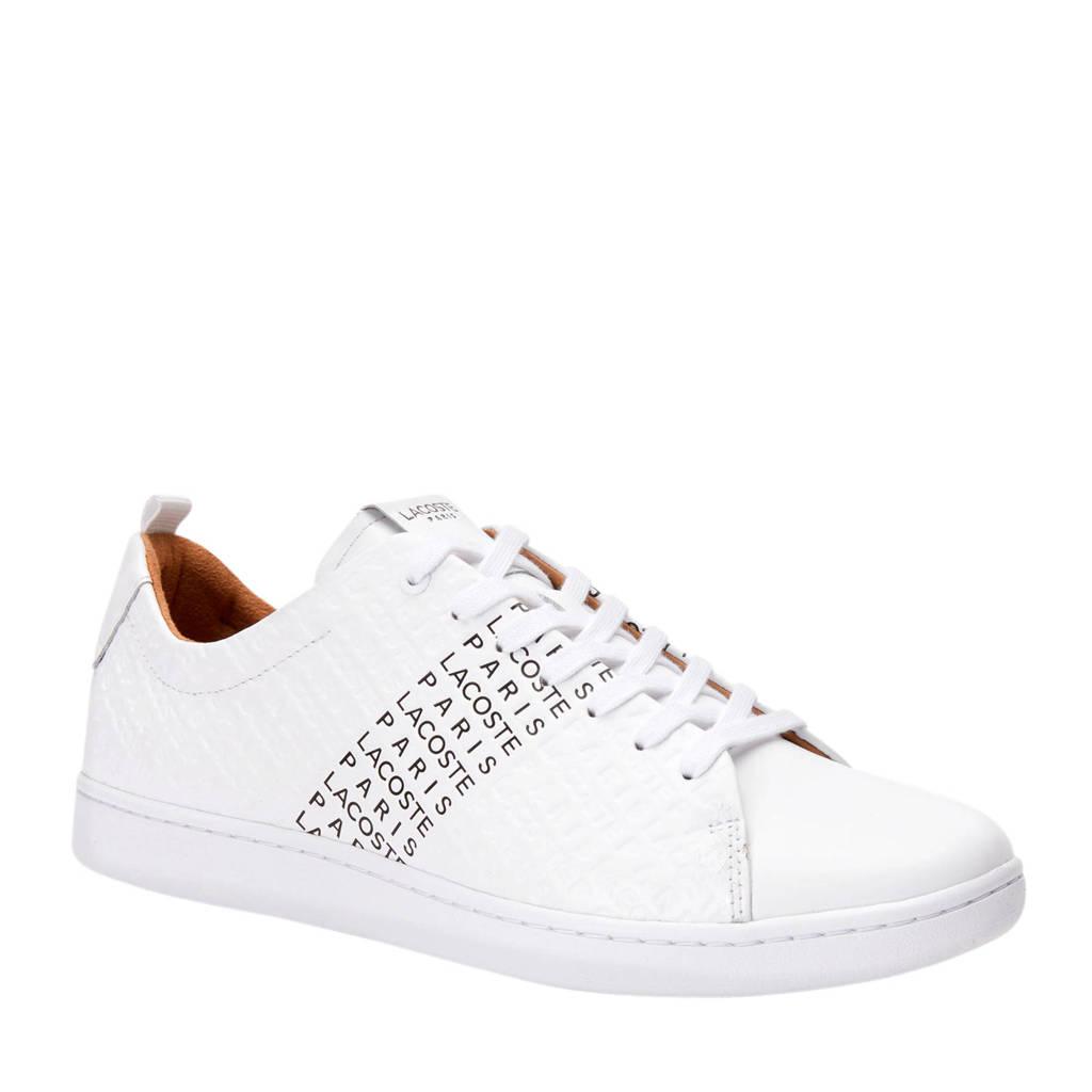 Lacoste  Carnaby Evo 319 sneakers wit/zwart, Wit/zwart