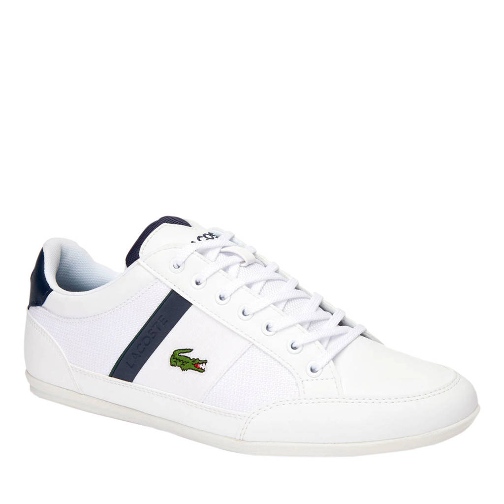 Lacoste Chaymon 319 3 sneakers wit/donkerblauw, Wit/donkerblauw