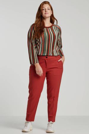 straight fit pantalon rood
