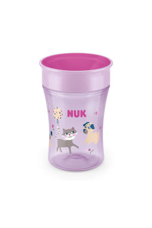 Magic cup drinkbeker 8+ mnd 230ml roze