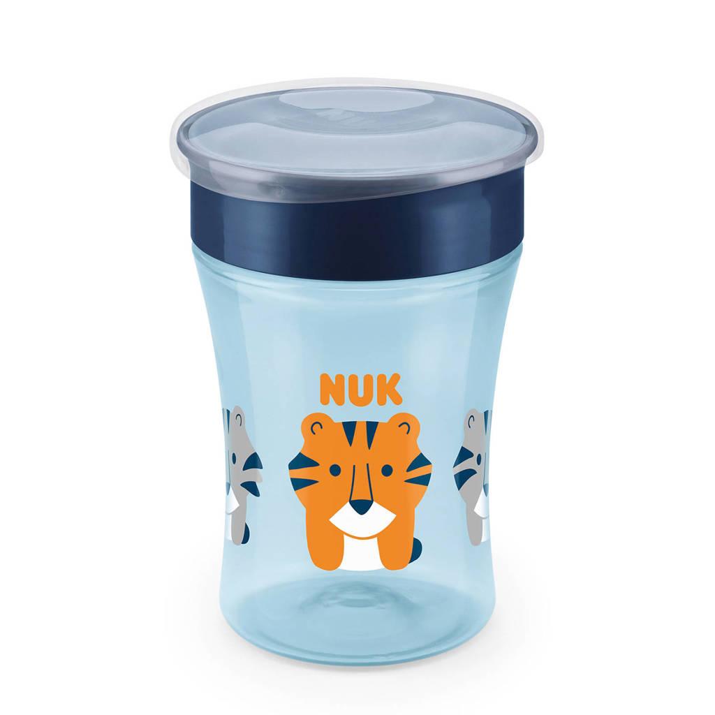 NUK Magic cup drinkbeker 8+ mnd 230ml blauw, Blauw