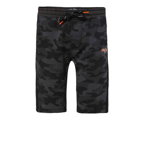 WE Fashion Salty Dog sweatshort met camouflageprin