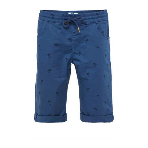 WE Fashion Blue Ridge slim fit bermuda met all ove