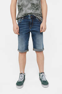 WE Fashion Blue Ridge jeans bermuda Billie dark denim, Donkerblauw