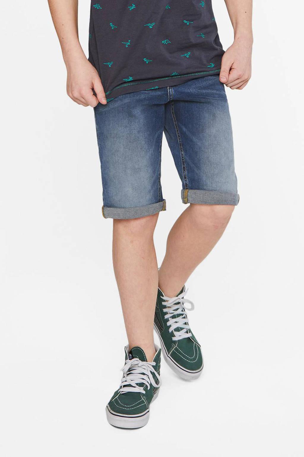 WE Fashion Blue Ridge jeans bermuda Billie Peppers Used Wove stonewashed, Stonewashed