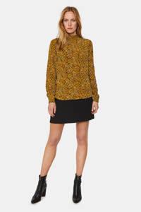 WE Fashion top met all over print okergeel, Okergeel