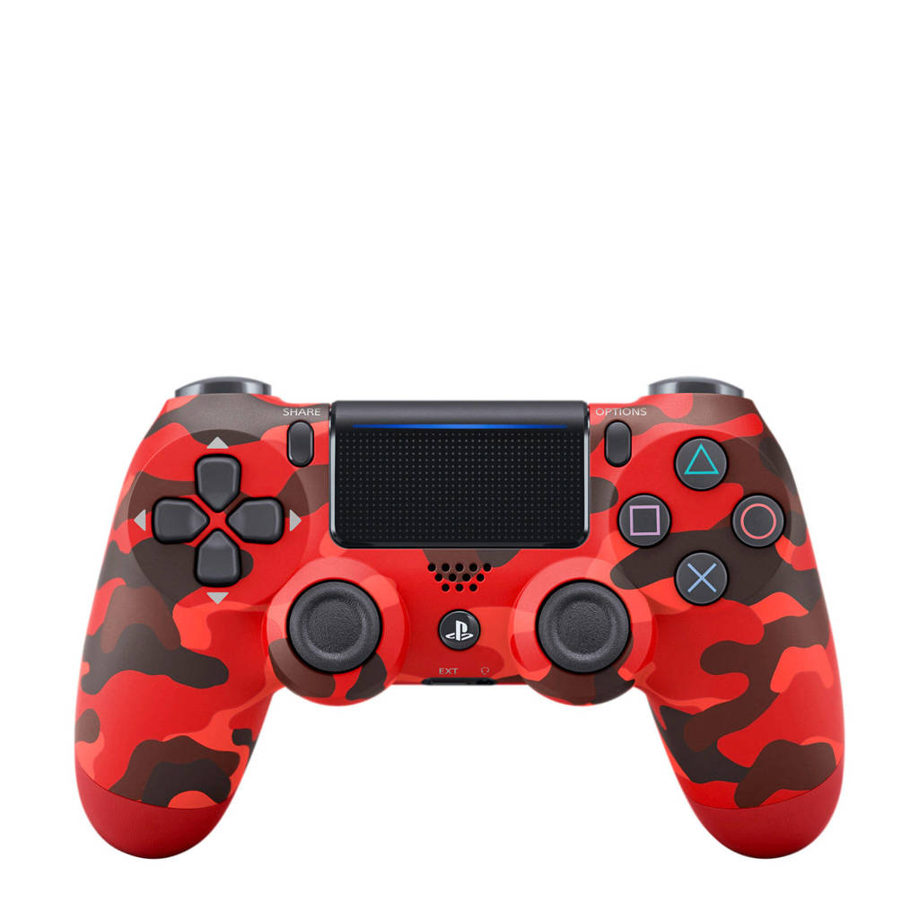 Sony PS4 Wireless Dualshock 4 V2 controller rood camo, Rood camouflage