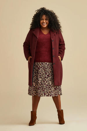 rok met all over print rood