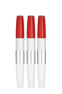 Maybelline New York SuperStay 24H lippenstift - 3 stuks multiverpakking, 510 Red Passion