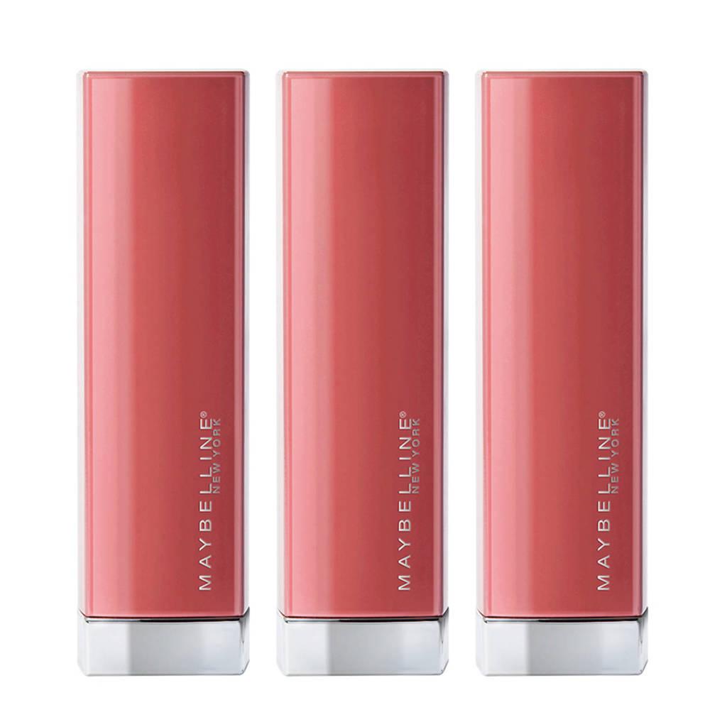 Maybelline New York Color Sensational Made For All lippenstift - 3 stuks multiverpakking, 373 Mauve For Me