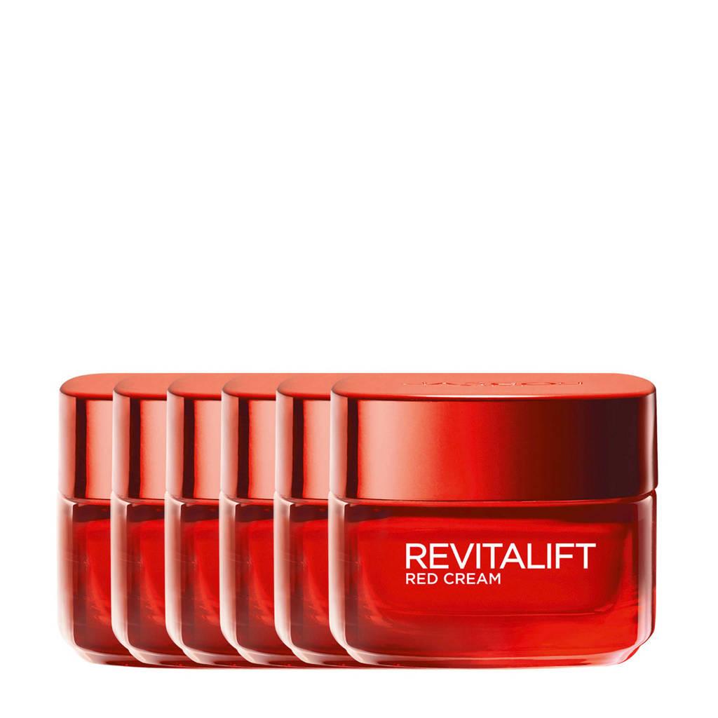 L'Oréal Paris Revitalift revitaliserende Red Cream Dagcrème - 6x 50ml multiverpakking