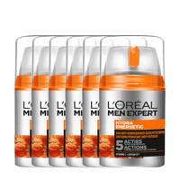 L'Oréal Paris Men Expert Hydra Energetic hydraterende gezichtscrème - 3x 50ml multiverpakking