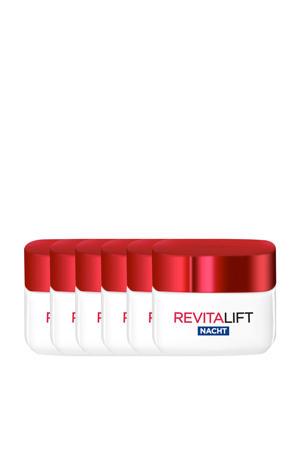 Revitalift hydraterende nachtcrème 6x 50ml multiverpakking