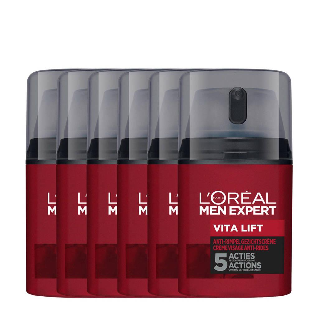 L'Oréal Paris Men Expert hydraterende anti-age dagcrème - 6x 50ml multiverpakking