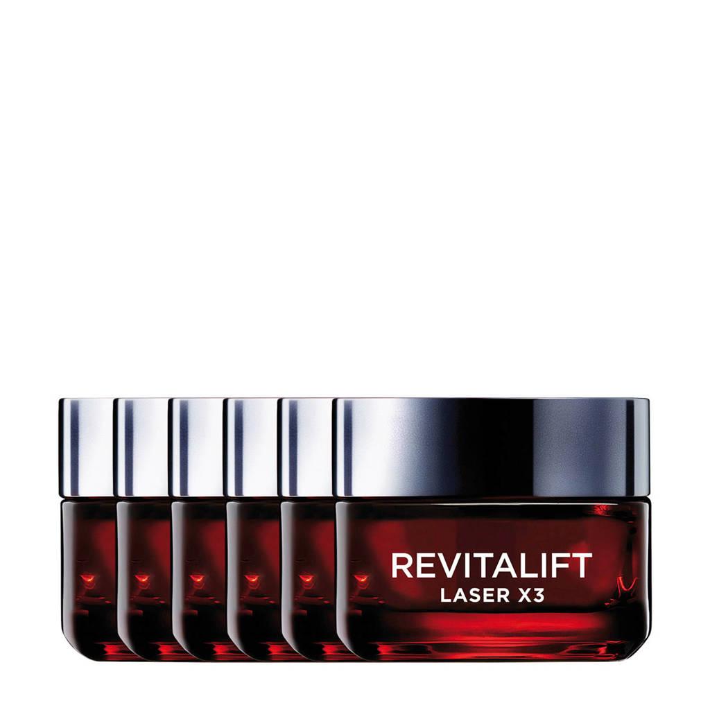 L'Oréal Paris Revitalift Laser X3 anti-rimpel dagcrème - 6x 50ml multiverpakking