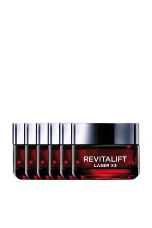 Revitalift Laser X3 anti-rimpel dagcrème - 6x 50ml multiverpakking